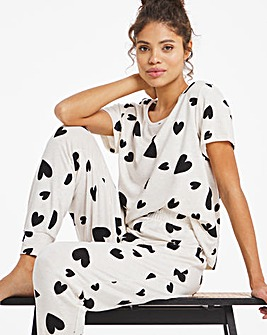 Boux Avenue Heart Print T and Jogger Set