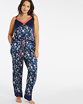 Joe Browns Satin Bird Print PJ Set