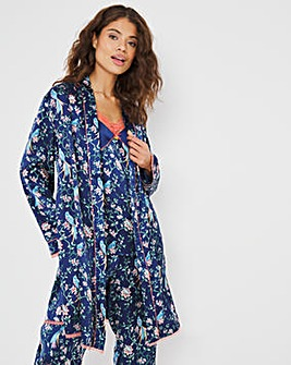 Joe Browns Satin Bird Print Robe