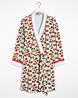 Joe Browns Reversible Rose Spot Robe