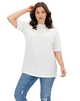 White Lightweight Boyfriend Tshirt