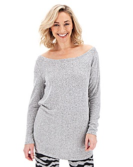 Soft Touch Off Shoulder Tunic