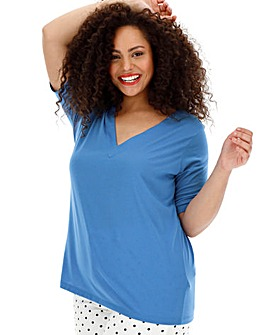 Simply Be Deep V Neck T Shirt
