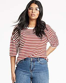 Simply Be Crop Boxy T Shirt