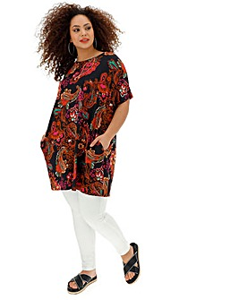 Side Pocket Tunic Short Sleeve