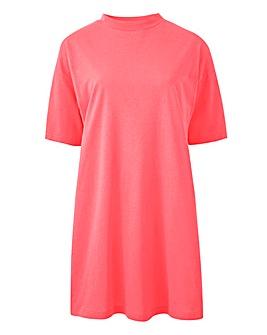 Neon Pink Lightweight Boyfriend Tshirt