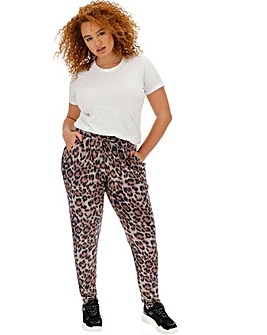 Animal Print Soft Touch Trousers