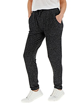 Charcoal Marl Soft Touch Trousers