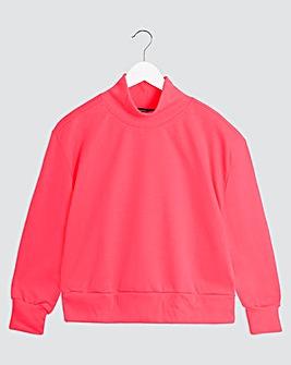 Cropped Neon Pink Sweatshirt