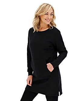 Black Sweatshirt Tunic