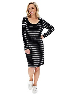 Cotton Slub Stripe Dress