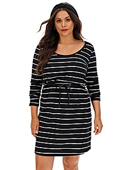 Cotton Slub Stripe Dress