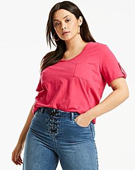 Pink Linen Blend T-shirt