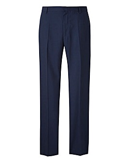 Jacamo Navy Plain Front Regular Fit Trousers