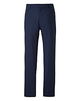 Navy Jeans Style Five Pocket Trousers