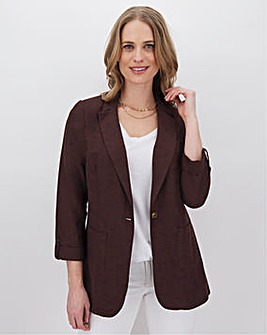 Chocolate Linen Mix Blazer