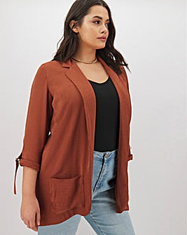 Rust Lightweight Throw On Blazer
