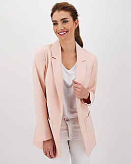 Light Pink Throw On Blazer