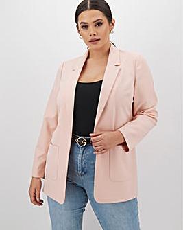 Light Pink Throw On Blazer