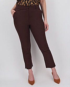 Chocolate Brown Linen Trouser
