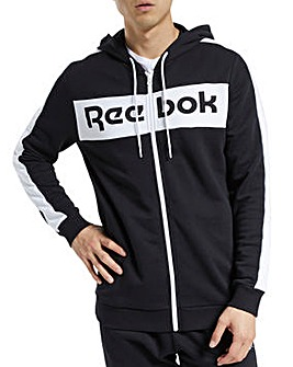 Reebok Elements Full Zip Linear Hoodie