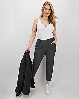Grey Meghan 4-Way Stretch Trousers