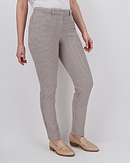 Pink Check Kate 4-Way Stretch Trousers