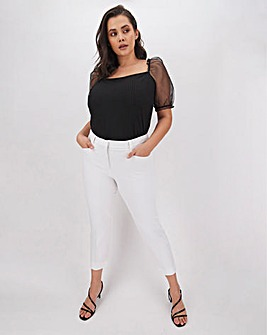 White Meghan 4-Way Stretch Trousers