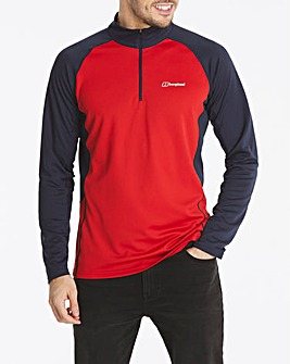 Berghaus Tech Long Sleeve Zip Tee