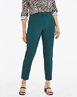 Mix & Match Pine Green Tapered Leg Trousers