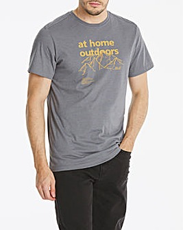 Jack Wolfskin At Home Short Sleeve T-Shirt