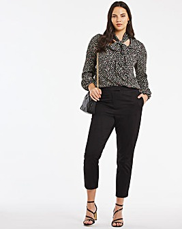 Black Stretch Tailored Trousers