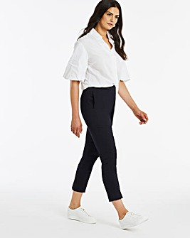 Navy Stretch Tailored Trousers