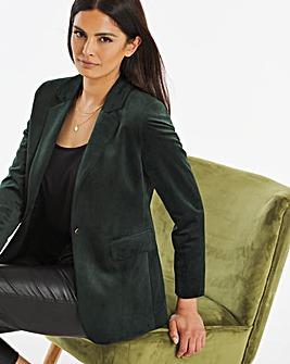 Green Velvet Blazer