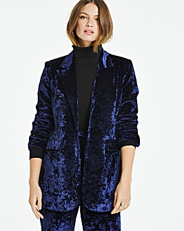 Ink Crushed Velvet Blazer