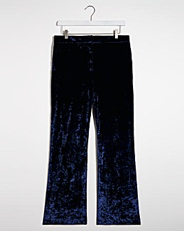 Ink Crushed Velvet Trousers