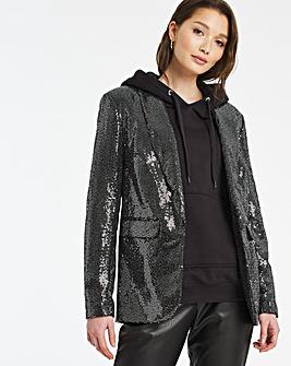 Black Foil Blazer