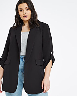 Black Relaxed Throw On Blazer