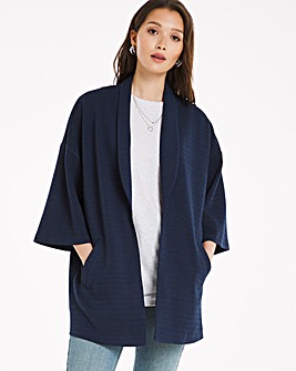 Edge to Edge Jacquard Throw On Jacket