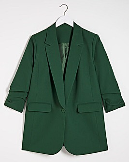 Pine Green Relaxed Blazer