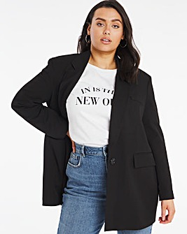 Simply Be Black Oversized Blazer