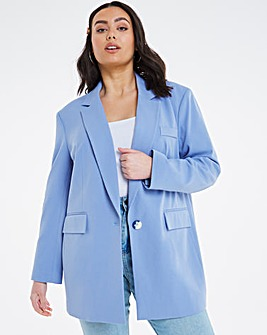 Simply Be Iris Blue Oversized Blazer