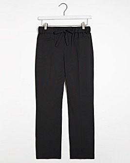 Basic Straight Leg Workwear Trousers Short