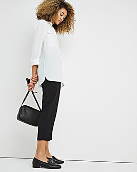 Mix and Match Black Tapered Leg Trousers Short