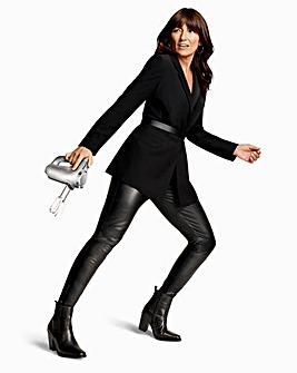 Black Oversized Blazer with Asymmetric Pockets and Cuffs