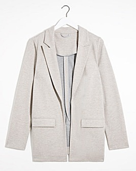 Stone Double Sided Ponte Blazer