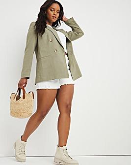 Khaki Linen Blazer