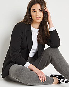 Black Lightweight Textured Blazer