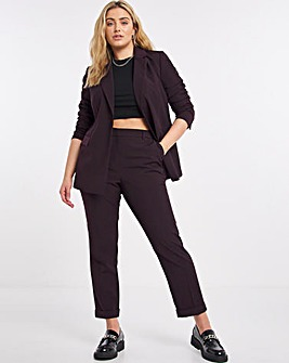 Aubergine Improved Quality PVL Tapered Trousers