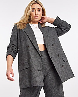 Relaxed Fit Houndstooth Blazer